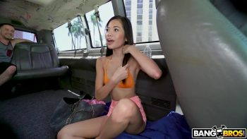 Tiny Asian Pussy Stretched on The Bus