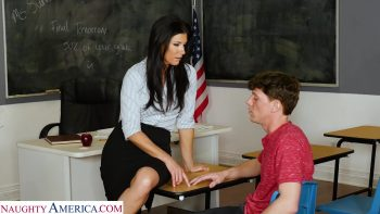 Professor India Summer practices being a porn star with her student