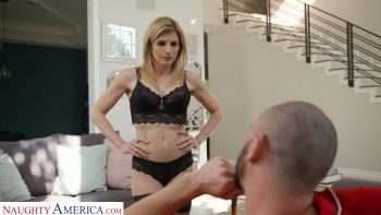 Cory Chase plays with her husband's bullly's balls