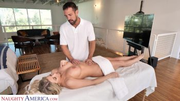 Sophia Deluxe Needs cock on the massage table