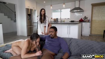 Step Sisters Share Stepdad's Dick