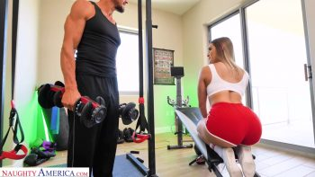 Kenzie Madison gets her big ass fucked at gym
