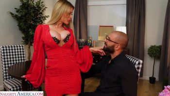 Casca Akashova, beautiful blonde bombshell gets a big thick cock for her MILF pussy