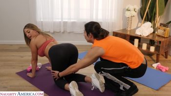 Kayley Gunner uses yoga positions to fuck instructor