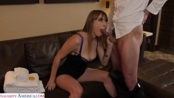 Angel Youngs gets fucked by hotel staff after her breakup