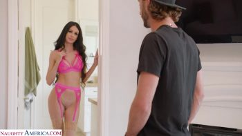 Hot Milf Jamie Michelle catches son's friend sniffing her panties, so she gives him the taste of the REAL thing