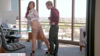 Syren De Mer gets hard cock at the office