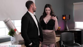 Big tit brunette Alyx Star fucks her boss to get that promotion