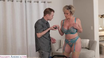 Dee Williams is horny and wants her husband to send her an escort